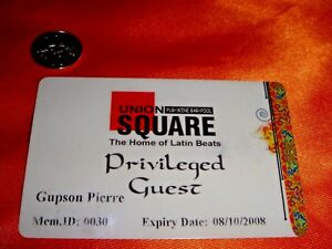 Singapore, Expired UNION SQUARE Privileged Guest Card, plastic used