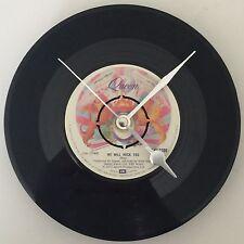 "QUEEN FREDDIE MERCURY Clock  Vintage Original 7"" record Birthday Christmas Gift"
