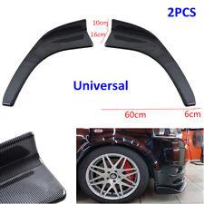2x Front Winglet Type Carbon Fiber Look Car Bumper Lip Diffuser Splitters Canard