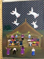 Angel Outsider folk art painting Annie Wellborn Georgia #9 Sun Will Shine