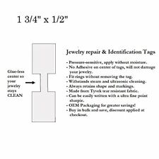 """1000 Pcs of Tyvek Jeweller Repair, Price and Identification tags 1.75"""" x .5"""""""