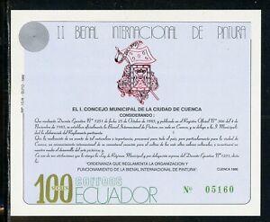 Ecuador Scott #1205 MNH Ordnance Establishing Art Exhibit $$