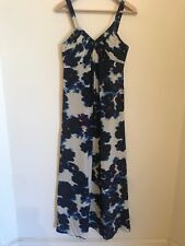 Jigsaw designer size 8 silk mix modern print maxi dress cocktail formal