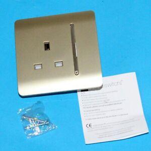 1 Gang Artistic Modern Glossy 13 Amp Electrical Switched Screwless Plug Socket G