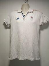 Adidas White Team GB London 2012 Short Sleeve Cotton Polo T-Shirt - Size S (217g