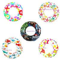 "Intex 20"" 51 cm Inflatable Swim Rings 3-6 yrs children child's Swim pool Ring"