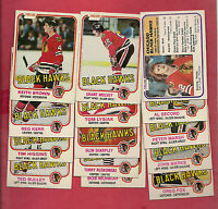1981-82 OPC CHICAGO BLACK HAWKS CARD LOT
