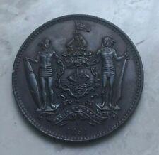 1891 H British North Borneo 1 One Cent - Nice AU Copper
