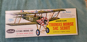 "Guillows Kit #201 Thomas Morse Scout WW-1 Fighter 24"" wingspan older vintage kit"