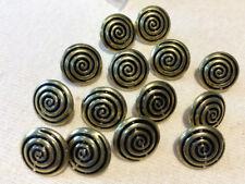 Brass Swirl Patterned Shank Buttons 12.5 mm- 5 Buttons