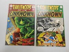 Challengers of the Unknown comic lot of 2! #'s 66 and 67! VG to FN range DC!