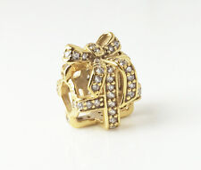 PANDORA All Wrapped Up Openwork Silver Present 14K Gold Plated 791766CZ Genuine