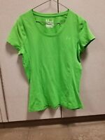 Under Armour Semi Fitted Charged Womens Green T Shirt Size Large