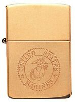 Zippo Solid Brass US Marines Logo Lighter