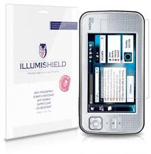 iLLumiShield Phone Screen Protector w Anti-Bubble/Print 3x for Nokia N800