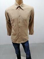 Camicia LEVI'S Uomo Taglia Size L Shirt Man Chemise Homme Beige 7672