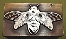 """BEE"" (OPEN WINGS) PRINTING BLOCK."