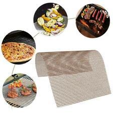 BBQ Grill Mesh Mat Reusable Teflon Sheet Resistant Non-Stick Tool Barbecue R7P8.