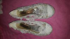Mariage/Demoiselle d'honneur/bal/parti Lacy Chaussures blanches taille 4 de Parfait Vintage