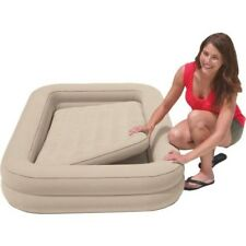 Kids Inflatable Mattress With Removable Frame & Hand Pump Childs Youth Air Bed