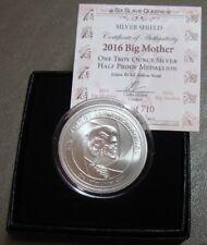 RARE 1 OZ SSG Silver Shield 2016 BIG MOTHER Half-Proof w/ COA & Black Box