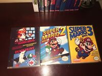 Super Mario Bros 1,2,3  1-3 NES Replacement Case. Nintendo Game Case