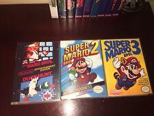 Super Mario Bros 1,2,3  1-3 NES Replacement Case. Nintendo Game Case