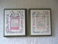 "Vintage Set Of 2 SCAFA 1975 Wooden Kitchen Wall Fruit Theme Plaques "" GREAT SET"