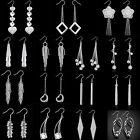 Fashion Women 925 Sterling Silver Plated Dangle Drop Hook Stud Earrings Jewelry