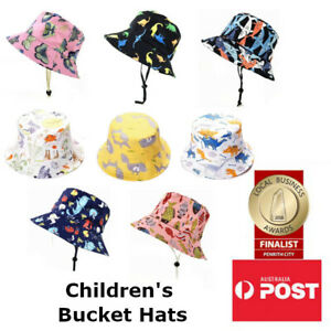 Children's 100% Cotton Printed Bucket Hat Summer Sun Hat