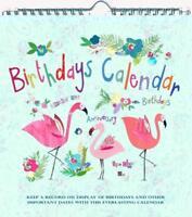 Jodds Stationery Everlasting Birthday Calendar - Flamingo Design - Friends Gift