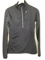 Athleta Mock Neck 3/4 Zip Pullover Gray Women's Size Medium Active Wear Jacket