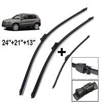 3PCS/Set Front Rear Windscreen Wiper Blades Kit Fit For VW Tiguan MK1 2007->