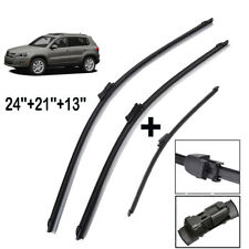 3PCS/Set Front Rear Windscreen Wiper Blades Kit Fit For VW Tiguan MK1 2007->