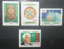 FRANCOBOLLI TURKMENISTAN 1992 CULTURA NAZIONALE NON DENTELLATI MNH** LOT (C.J)