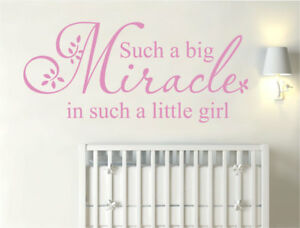 Such a big miracle in such a little girl wall sticker | Nursery wall sticker