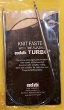 "Us #8 Addi Turbo Lace Circular Knitting Needles 5 mm in 32"" (80cm)"