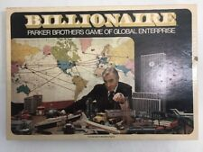 USA vtg 1973 BILLIONAIRE BOARD GAMEPARKER BROTHERS complete Near mint pieces