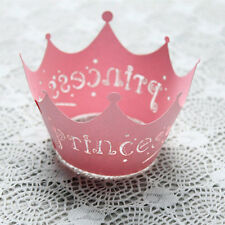 Decorations Case 12Pcs Princess Crown Design Style Paper Vine Lace Cup Cake