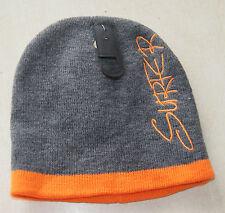 Bonnet gris et orange neuf taille unique