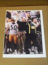 Bill Cowher, Pgh Steelers, Signed 8.5 x 11 Print, Super Bowl XL Celebration