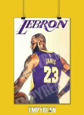 LeBron James LA Lakers Poster 23 Jersey Art Print