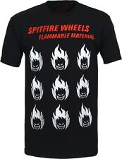 Spitfire Wheels Stiff Little Heads Skateboard T Shirt Black Medium