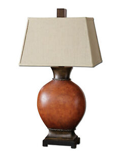 Uttermost 26517 Suri Burnished Red Table Lamp