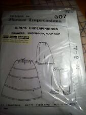 Civil war Pattern, Period Impressions #307 Girl's Underpinnings size 7-8-10