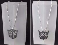 Transformers Halskette Autobots Optimus Prime Deceptions Megatron Anhänger Comic