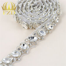 1 Yard Wedding Bridal Belt Rhinestone Crystal Applique Trim for Bridesmaid Dress