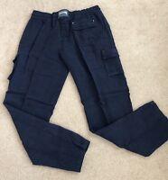 New w Tags Authentic Vilebrequin 100% Linen Pants Men Navy Blue L Retail $260