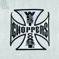 WEST COAST CHOPPERS EMBROIDERED TANK PATCH IRON CROSS 10CM! 100% ORIGINAL!