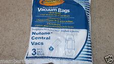 CENTRAL VAC VACUUM BAGS 9 bag 391fit Nutone Broan 350, CV-350, CV-352, CV-353